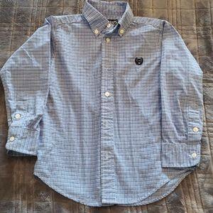 Boys button up long sleeve dress shirt